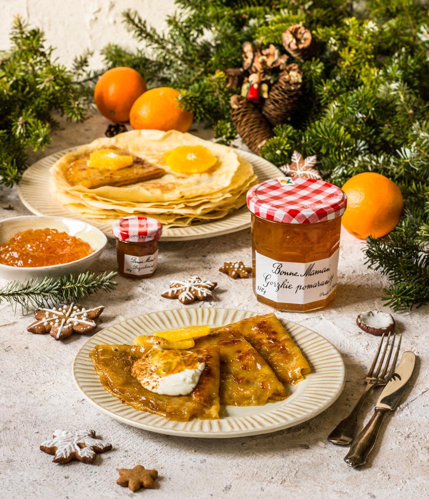 Naleśniki z konfiturą pomarańczową a'la crepes suzette